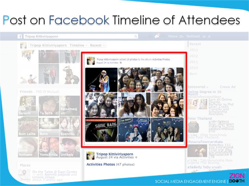 Post on Facebook Timeline