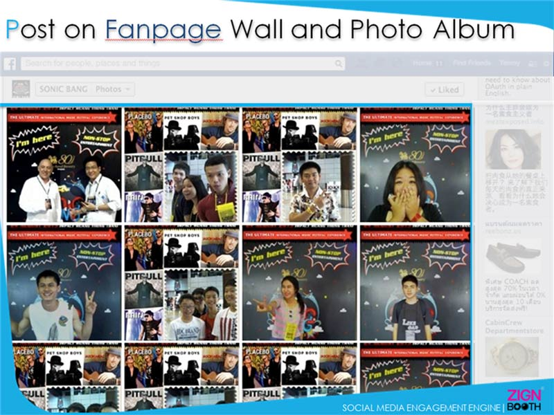Post on Fanpage Wall and Photo Album